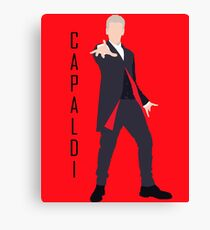 12th Doctor Peter Capaldi minimalist Canvas Print