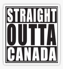 Straight Outta Canada Sticker