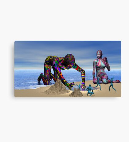 Discoverying the Aqua People Canvas Print