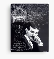 """Nikola Tesla""- 2010 Metal Print"