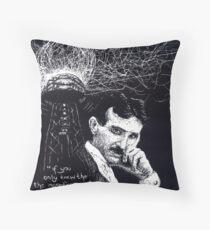 """""""Nikola Tesla""""- 2010 Throw Pillow"""