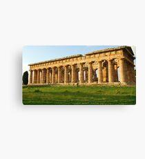 Tempio di Nettuno-Paestum,Italy Canvas Print