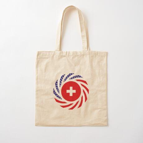 Swiss American Multinational Patriot Flag Series Cotton Tote Bag