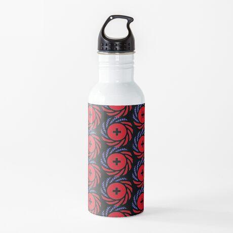 Swiss American Multinational Patriot Flag Series Water Bottle