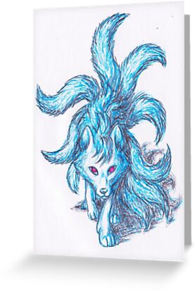 Blue Ninetales by madogis