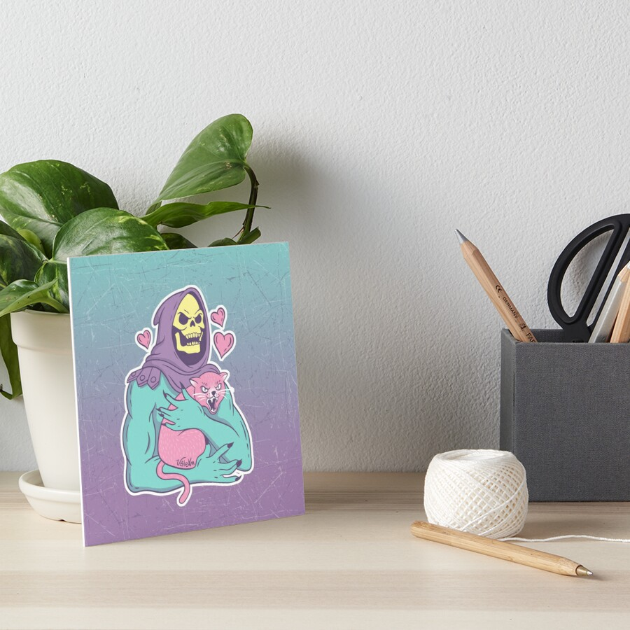 Skeletor's Cat Art Board Print
