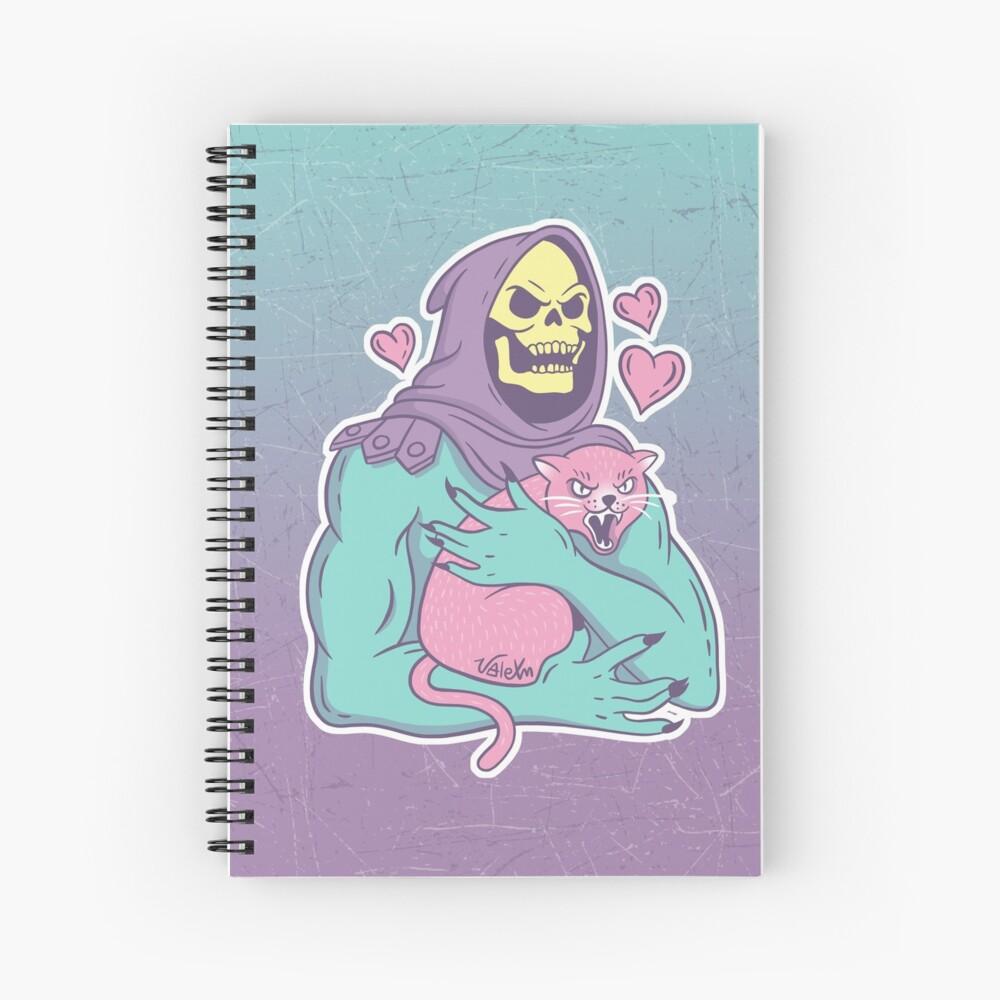 Gato de esqueleto Cuaderno de espiral