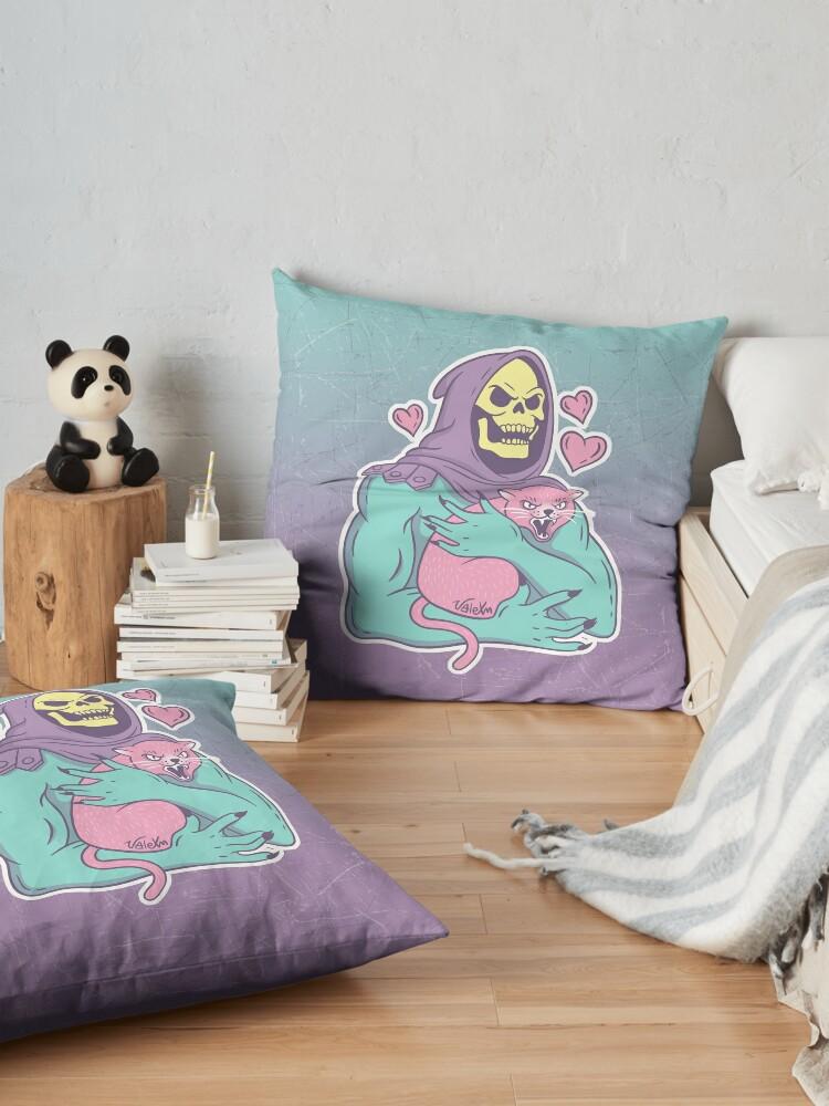 Alternate view of Skeletor's Cat Floor Pillow