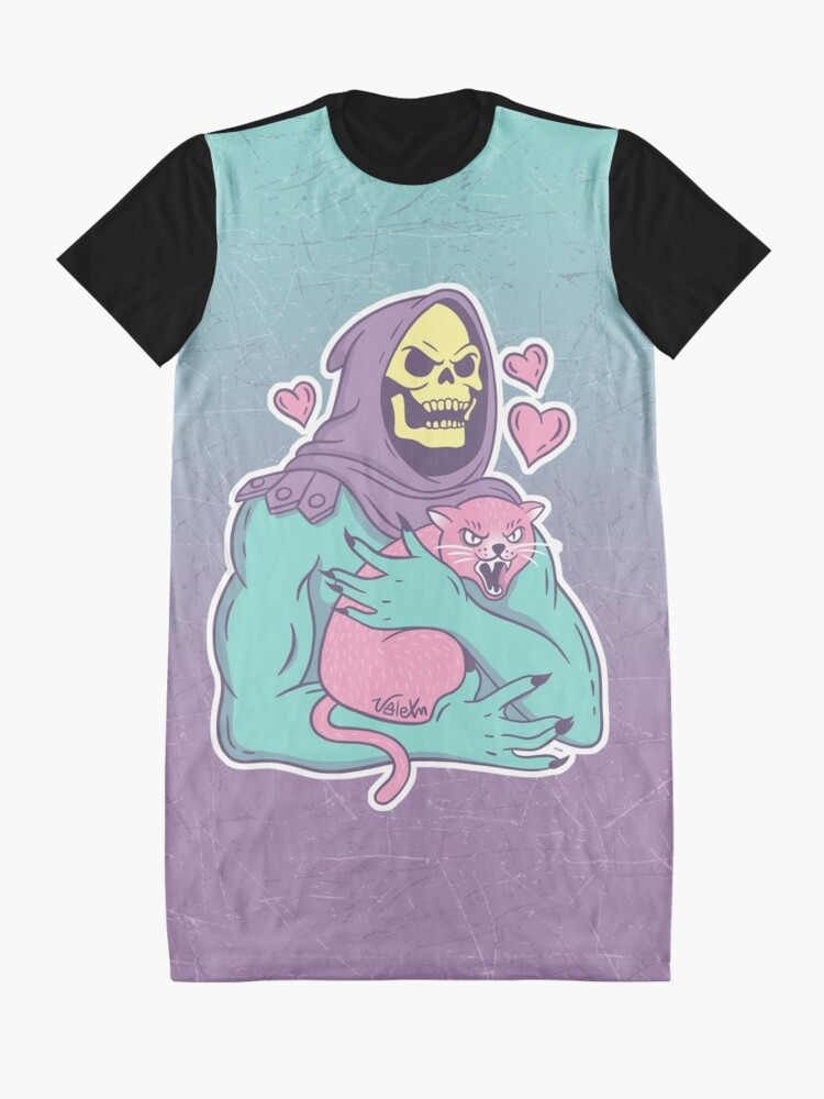 Alternate view of Skeletor's Cat Graphic T-Shirt Dress