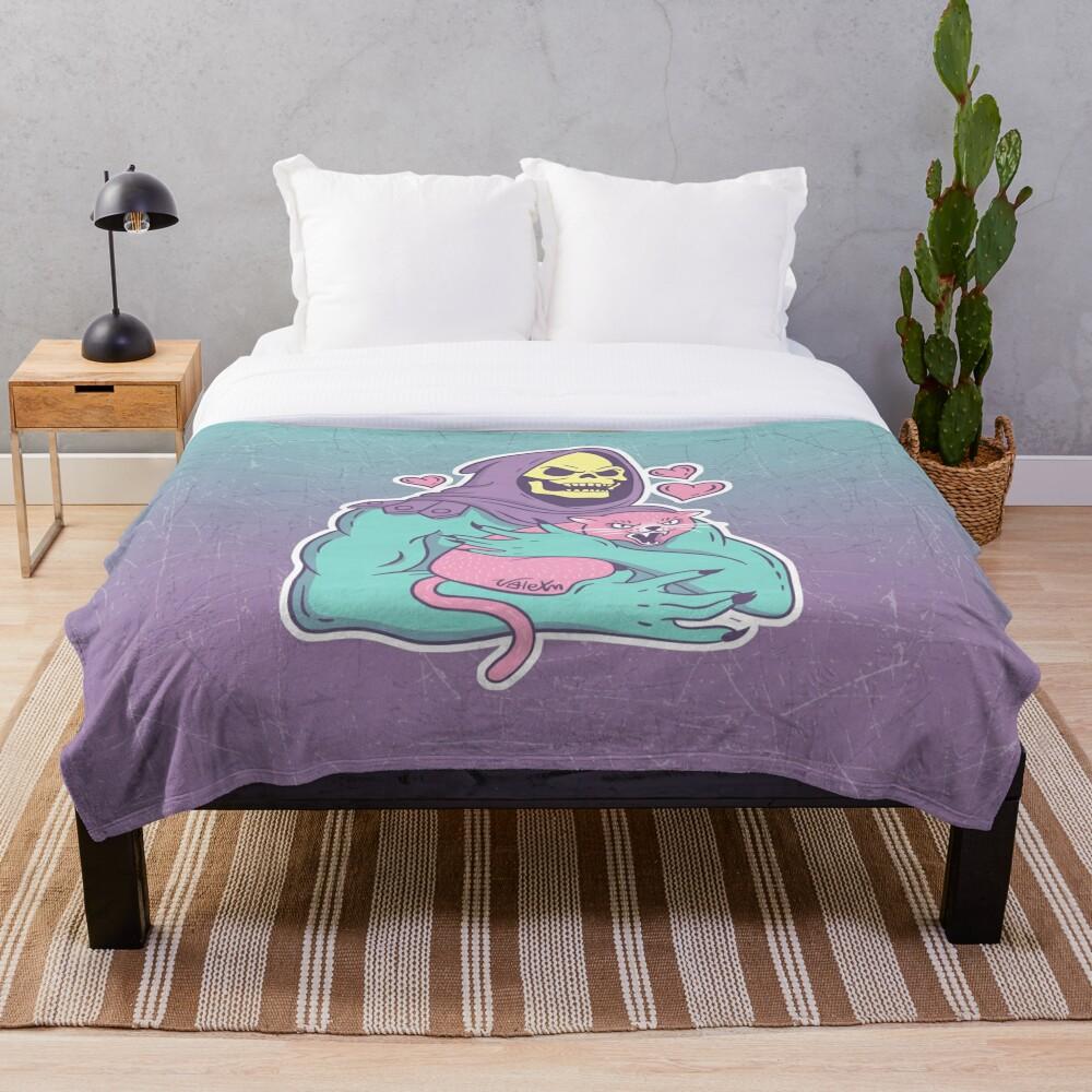 Skeletor's Cat Throw Blanket