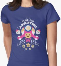 Time for Adventure Toadette Women's Fitted T-Shirt