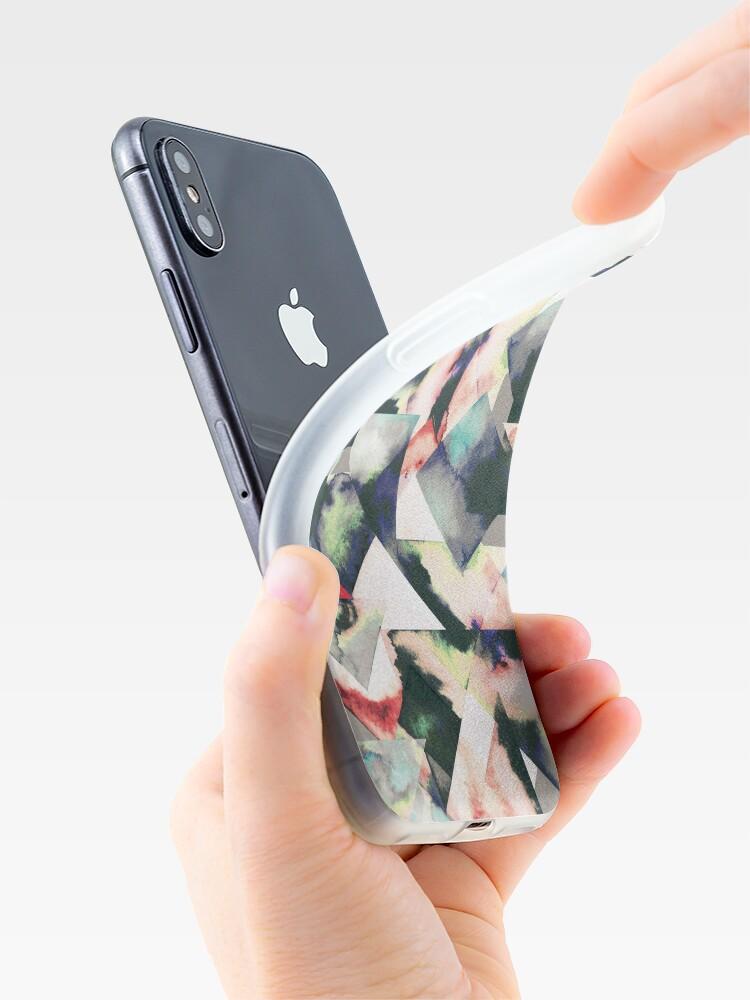 Vista alternativa de Funda y vinilo para iPhone Azulejos Watercolored