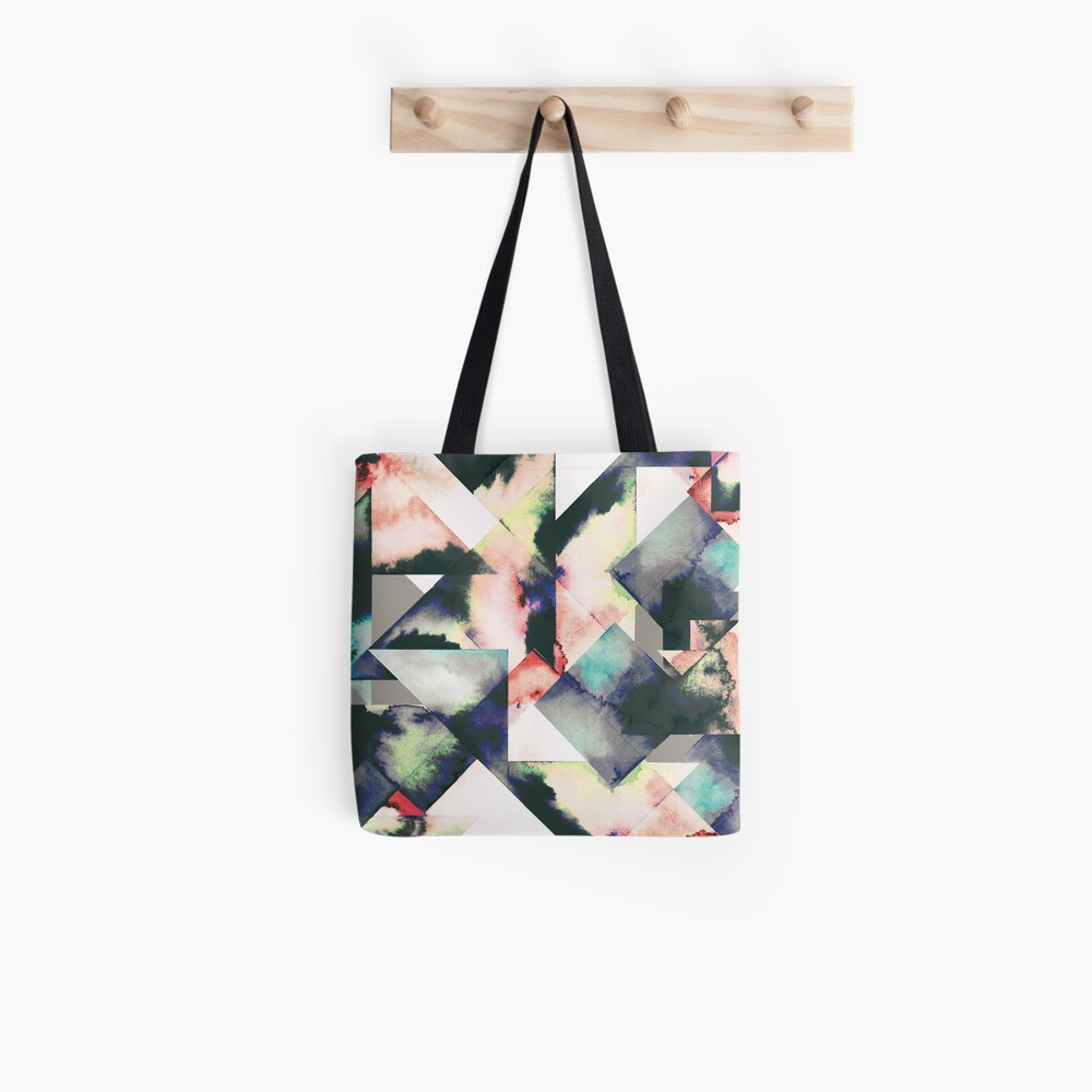 Azulejos Watercolored Bolsa de tela