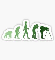 Green Photographer Evolution Sticker