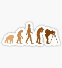 Earth Photographer Evolution Sticker