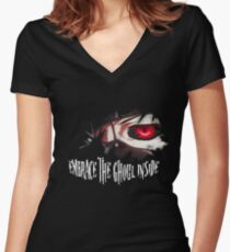 Embrace The Ghoul Inside Women's Fitted V-Neck T-Shirt