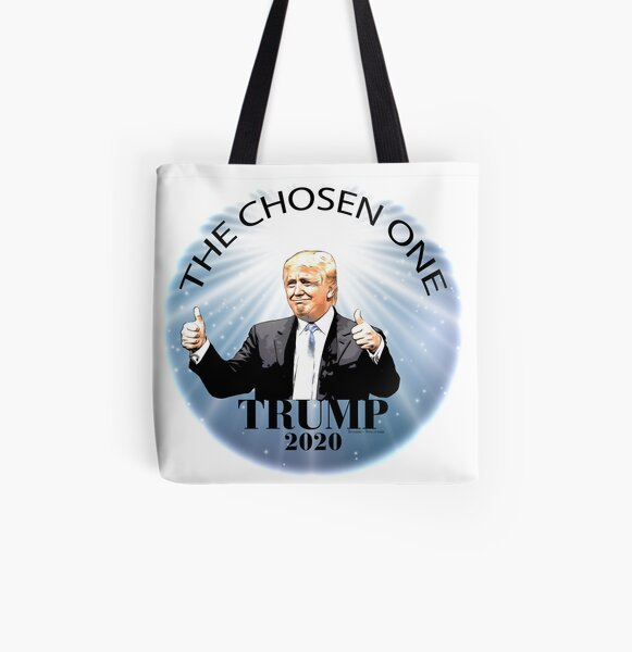 Trump 2020 The Chosen One All Over Print Tote Bag