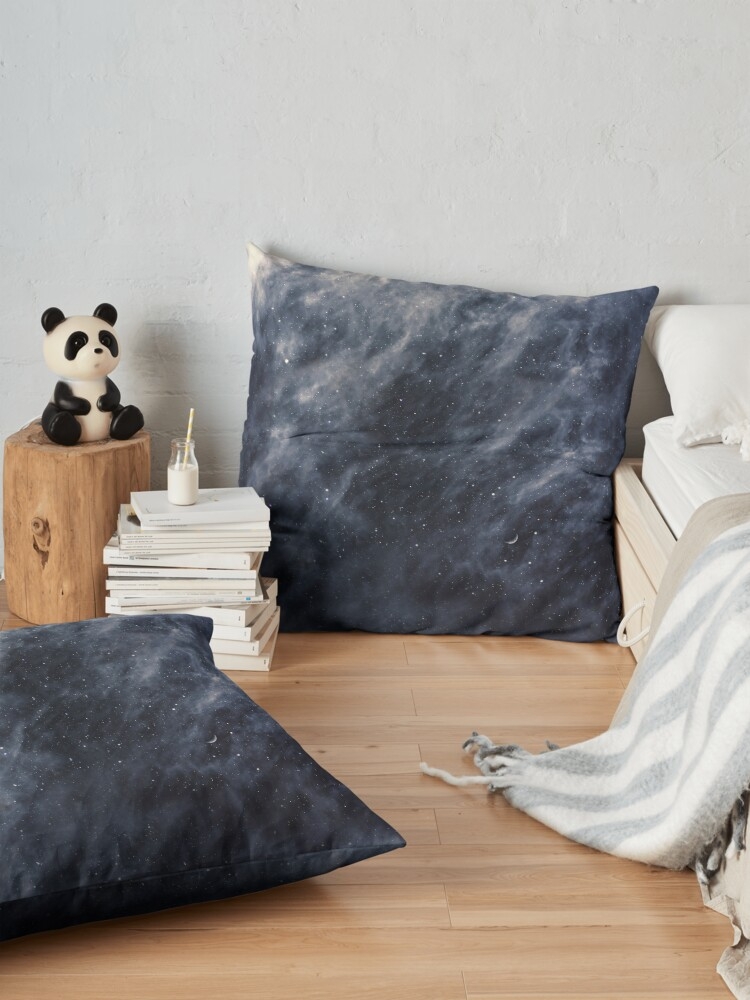 Alternate view of Blue Clouds, Blue Moon Floor Pillow