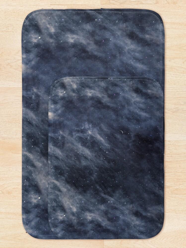 Alternate view of Blue Clouds, Blue Moon Bath Mat