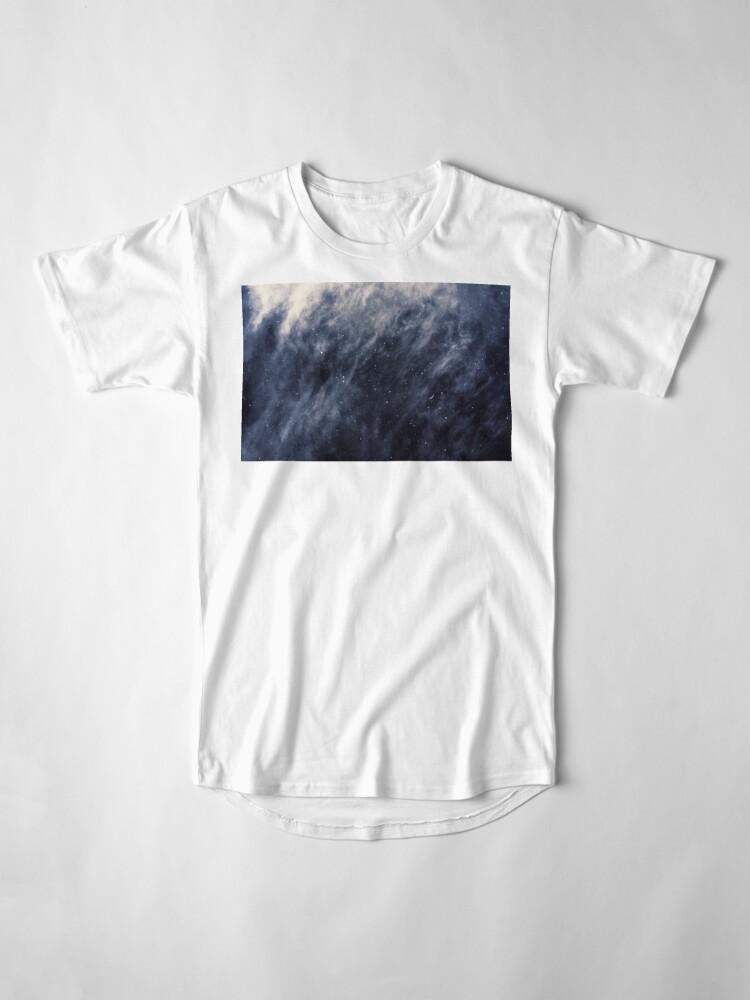 Alternate view of Blue Clouds, Blue Moon Long T-Shirt