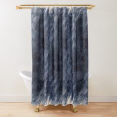 Blue Clouds, Blue Moon Shower Curtain