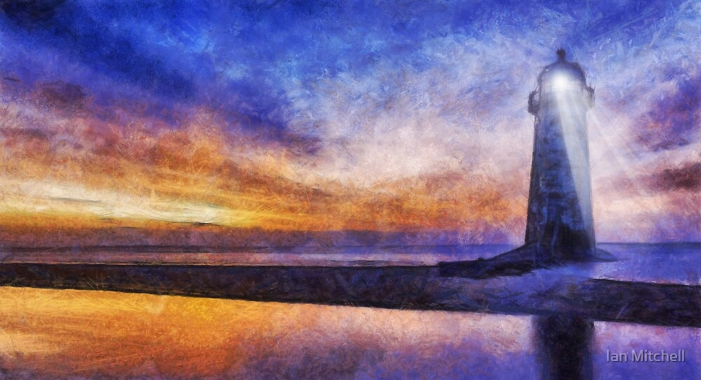 Talacre Lighthouse by Ian Mitchell