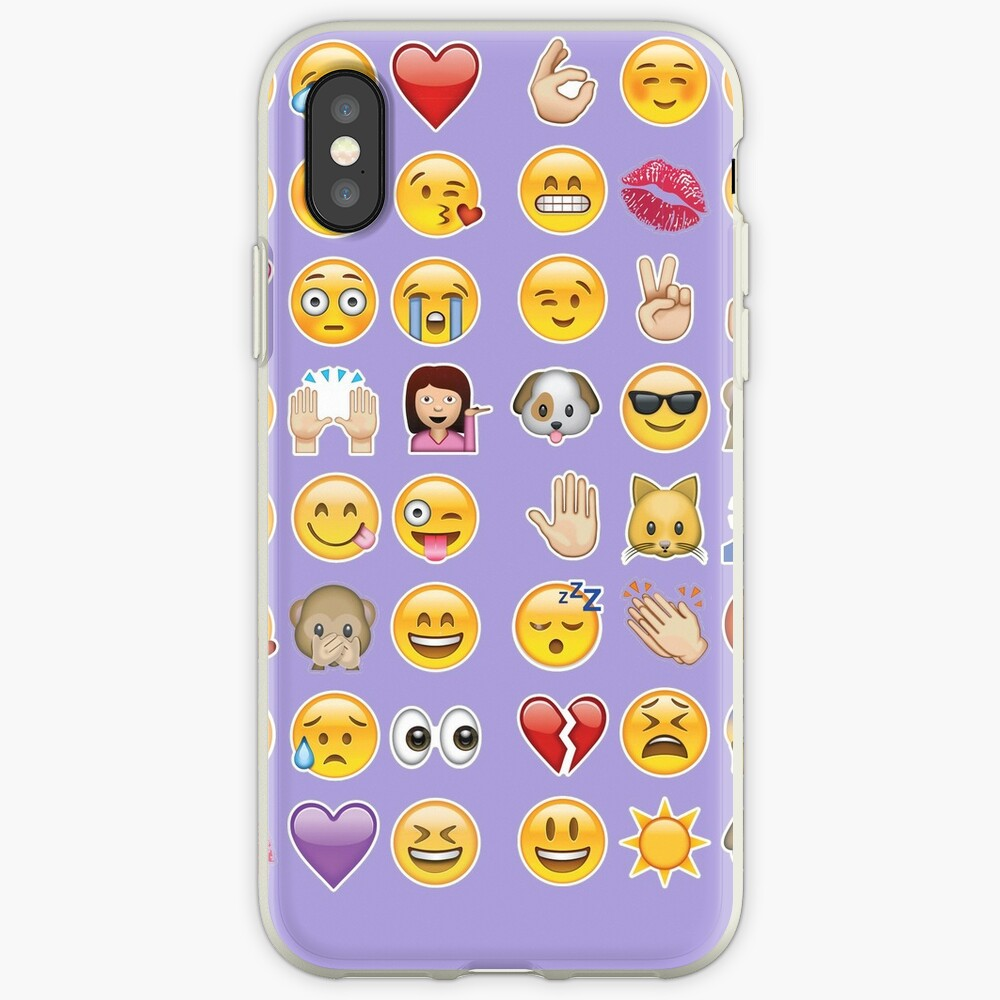 Pastell lila Emoji iPhone-Hülle & Cover