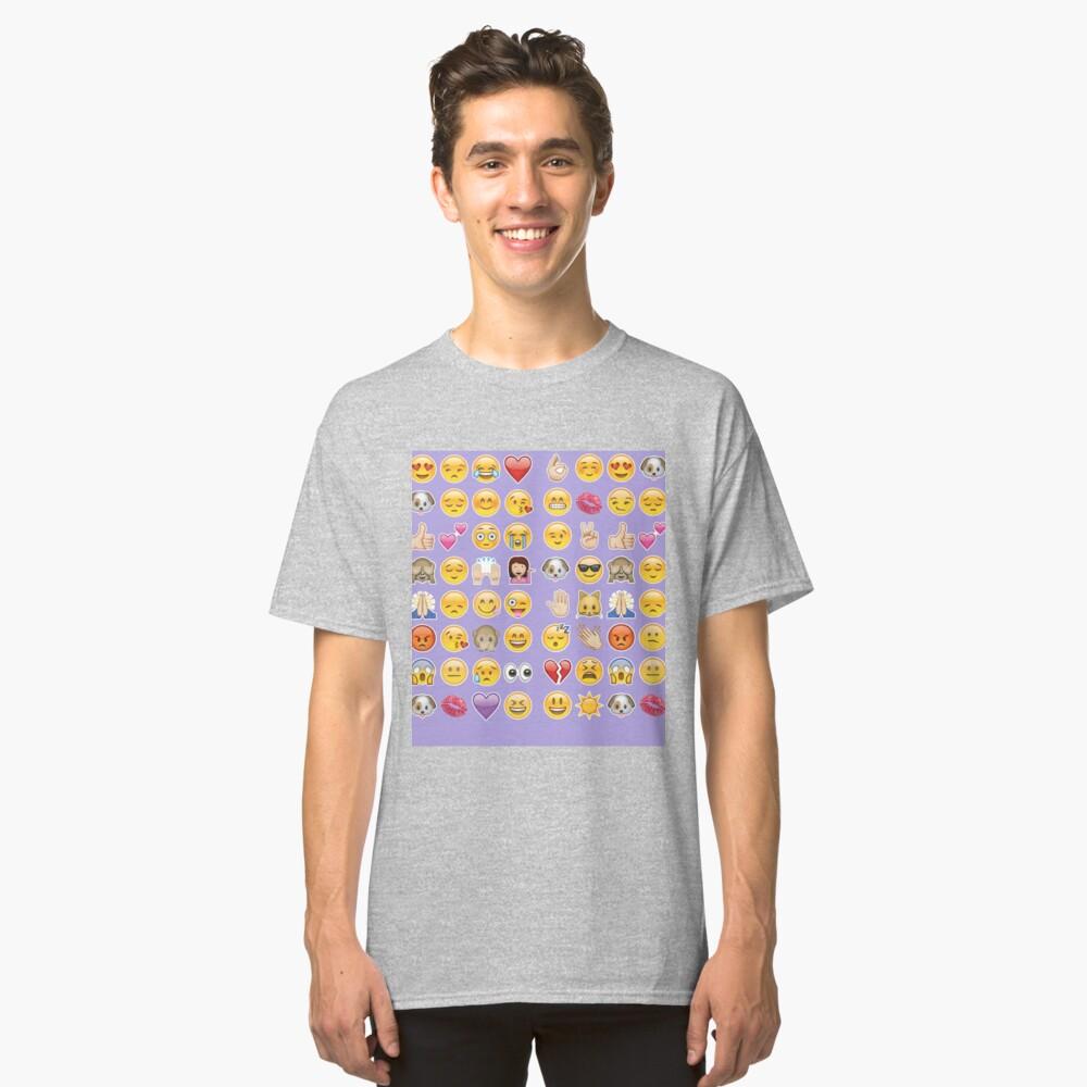 Pastell lila Emoji Classic T-Shirt