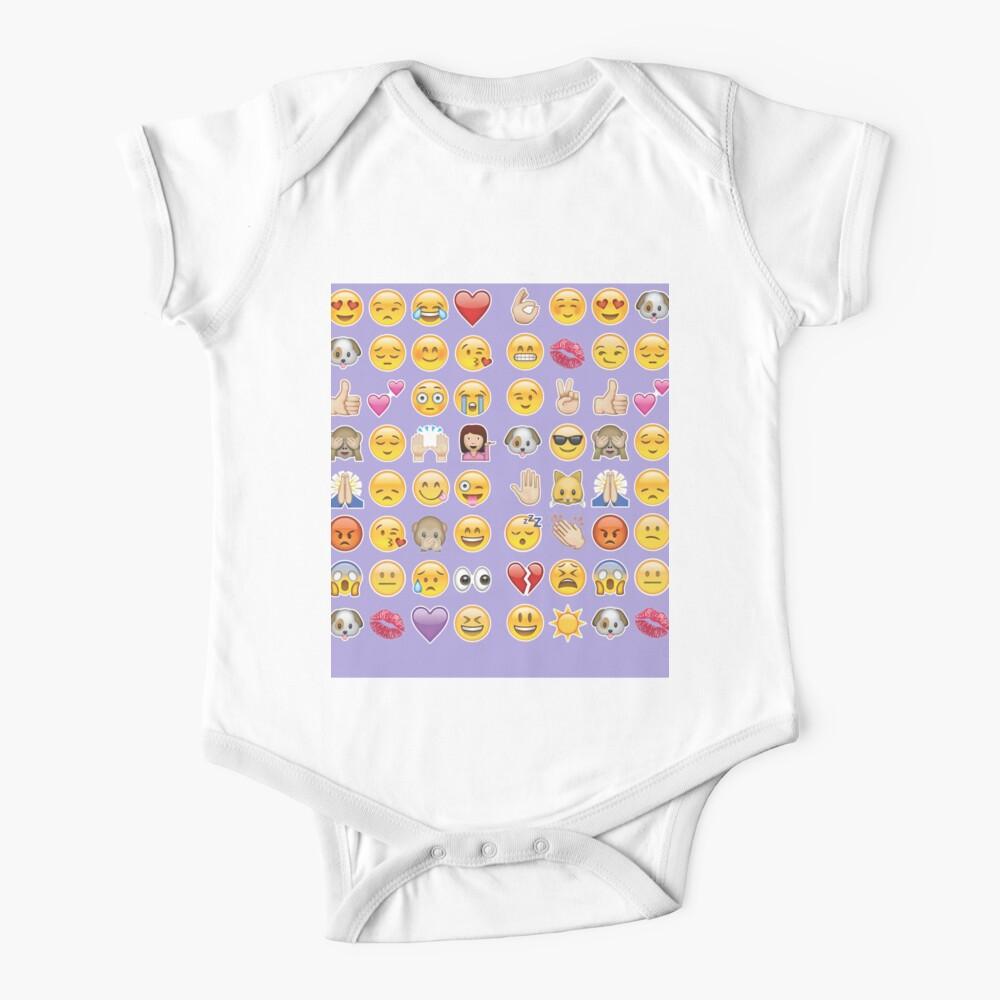 Pastell lila Emoji Baby Body