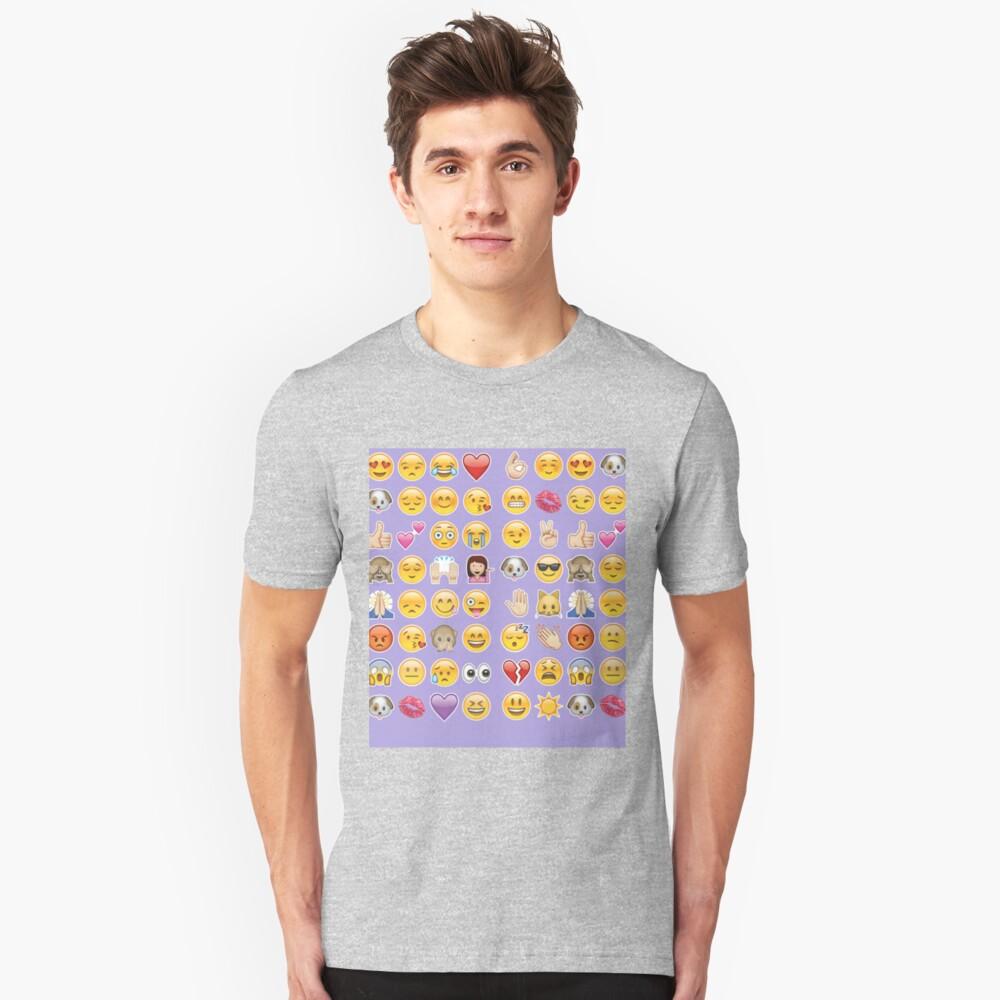 Pastell lila Emoji Slim Fit T-Shirt