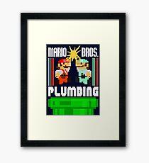 Mario Bros. Plumbing  Framed Print