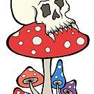 Mushroom Skull Ladybug by Brett Gilbert