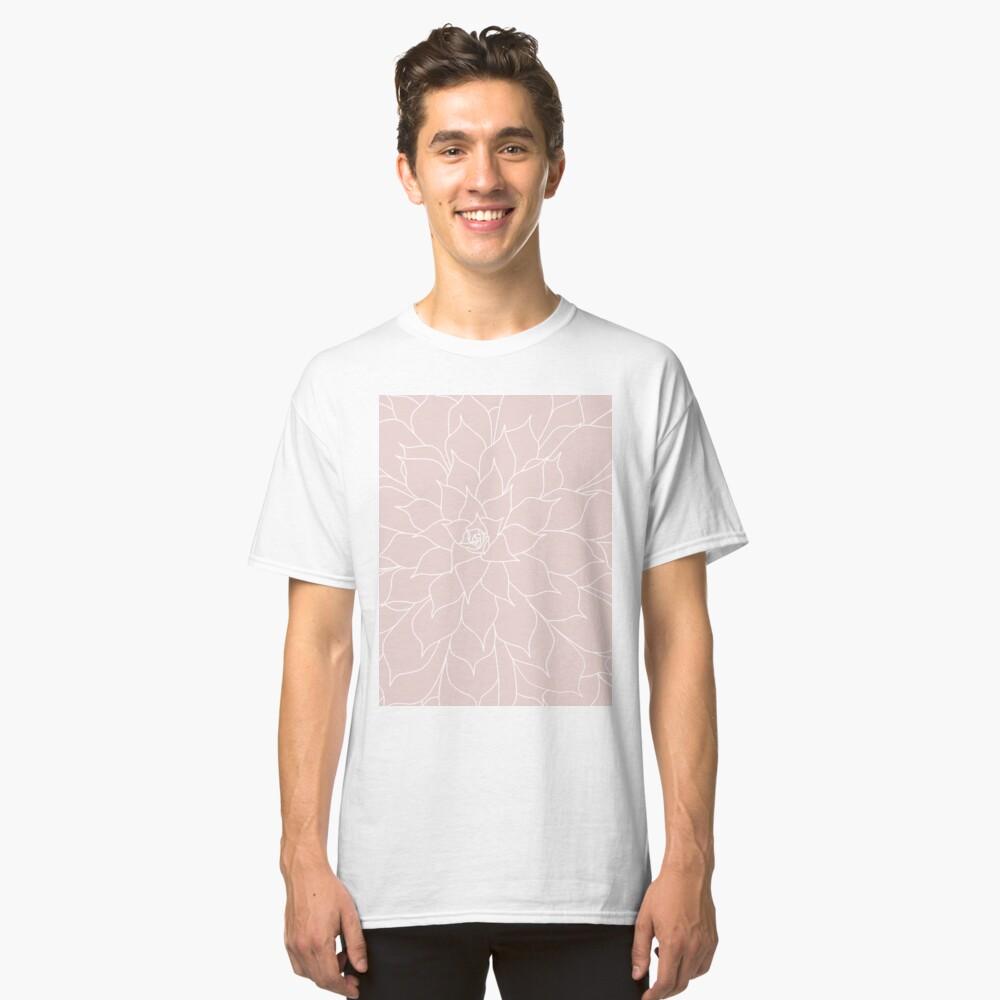 Blush Pink Succulent Classic T-Shirt