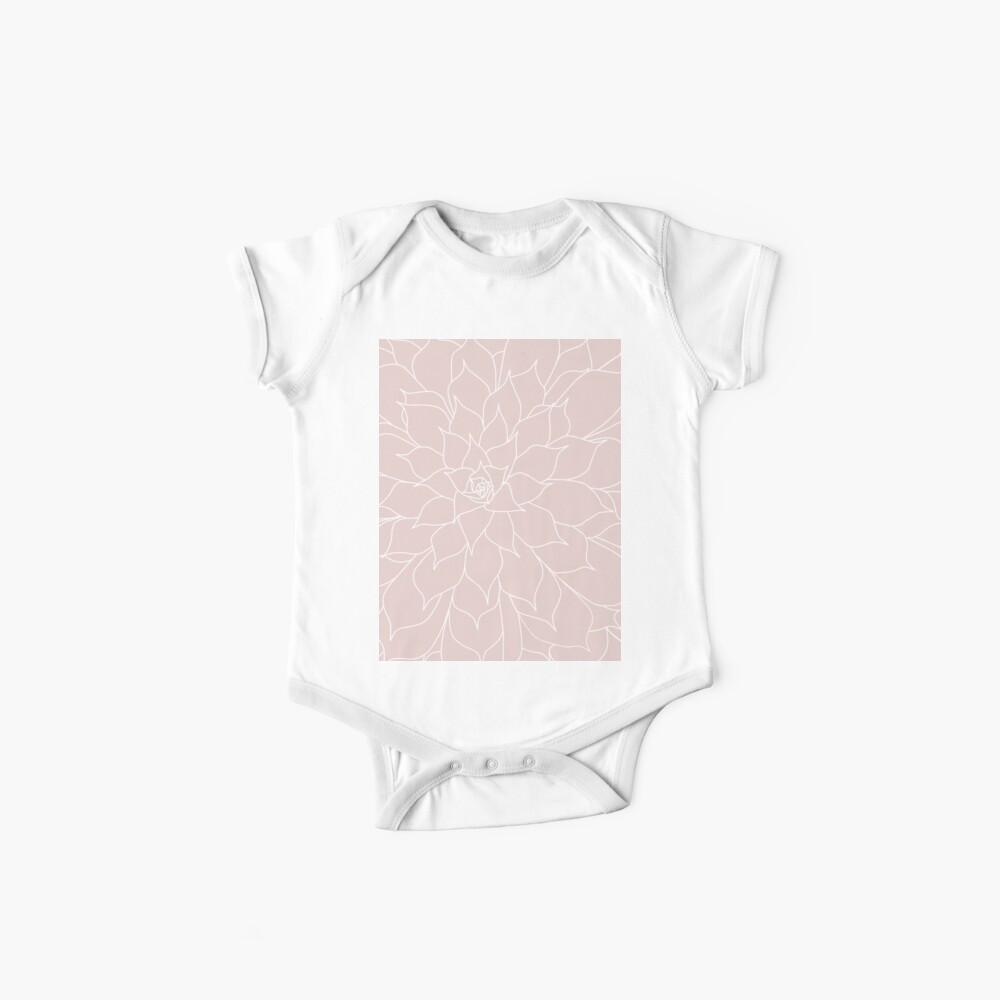 Blush Pink Succulent Baby One-Piece