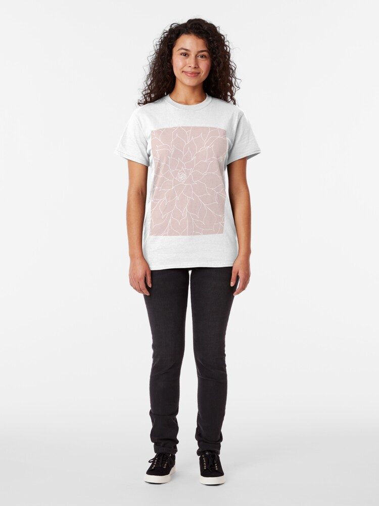 Alternate view of Blush Pink Succulent Classic T-Shirt