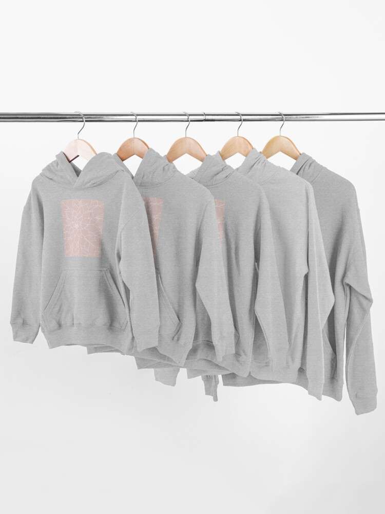 Alternate view of Blush Pink Succulent Kids Pullover Hoodie
