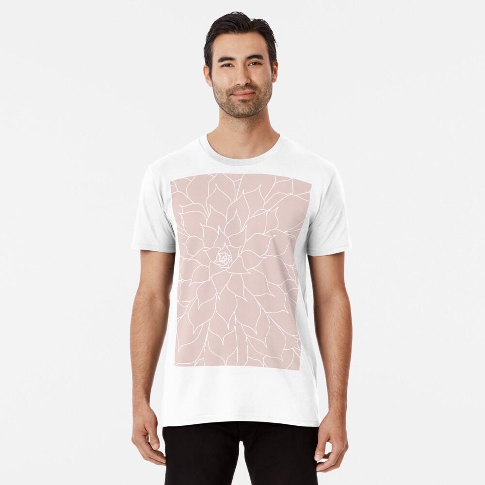Blush Pink Succulent Premium T-Shirt