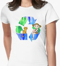 Live Like You Love the Planet Women's Fitted T-Shirt
