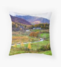 Autumn at Little Langdale Throw Pillow