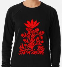 Red Velvet Flower Lightweight Sweatshirt