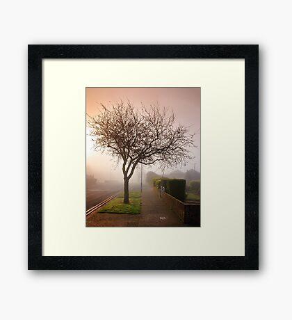Misty Morning in Birchington Framed Print