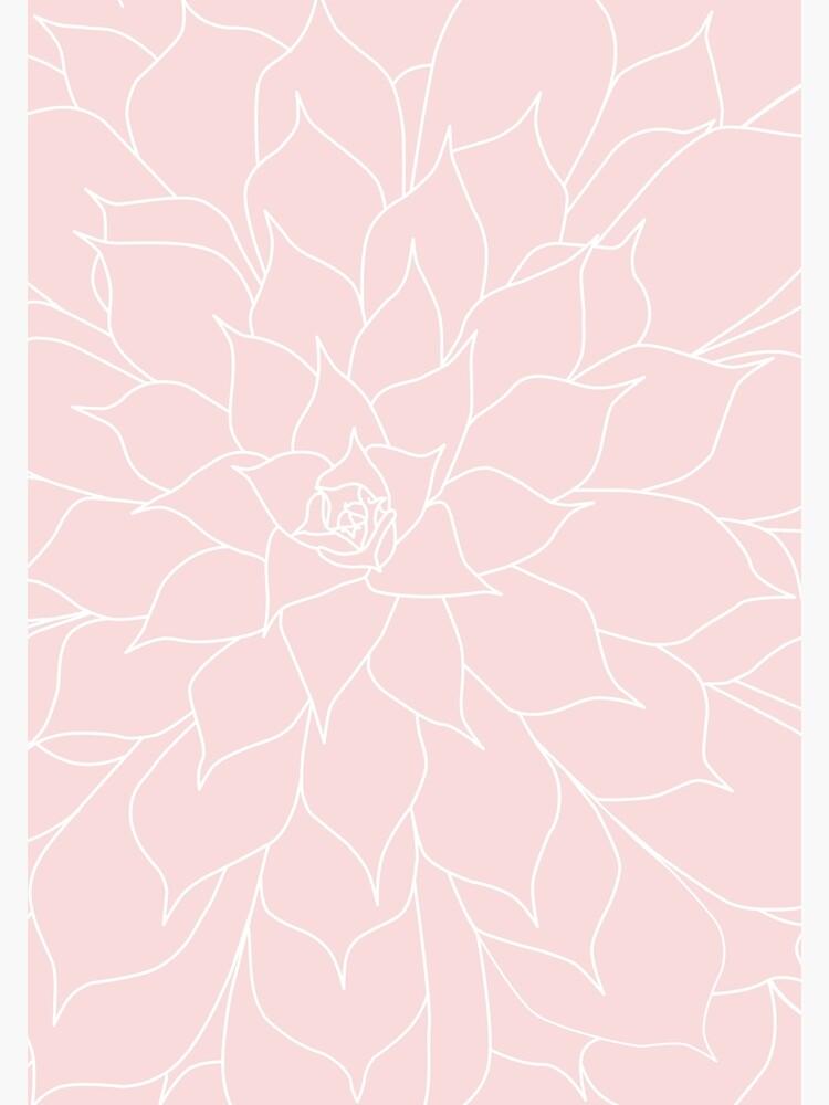 Suculenta de cuarzo rosa de UrbanEpiphany