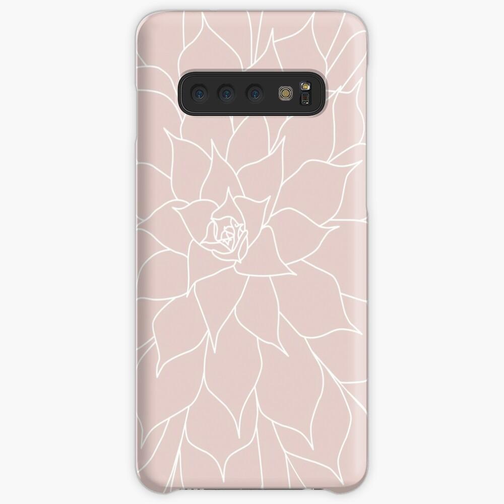 Blush Pink Succulent Case & Skin for Samsung Galaxy