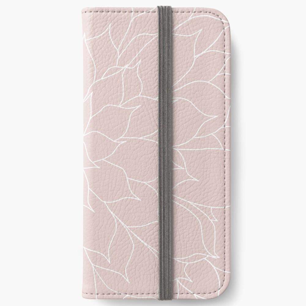 Blush Pink Succulent iPhone Wallet
