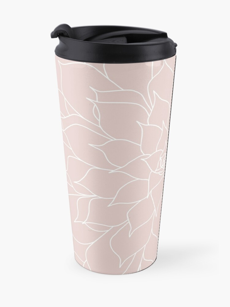 Alternate view of Blush Pink Succulent Travel Mug