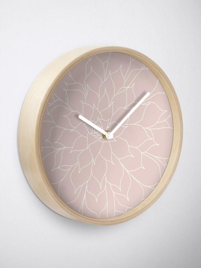 Alternate view of Blush Pink Succulent Clock