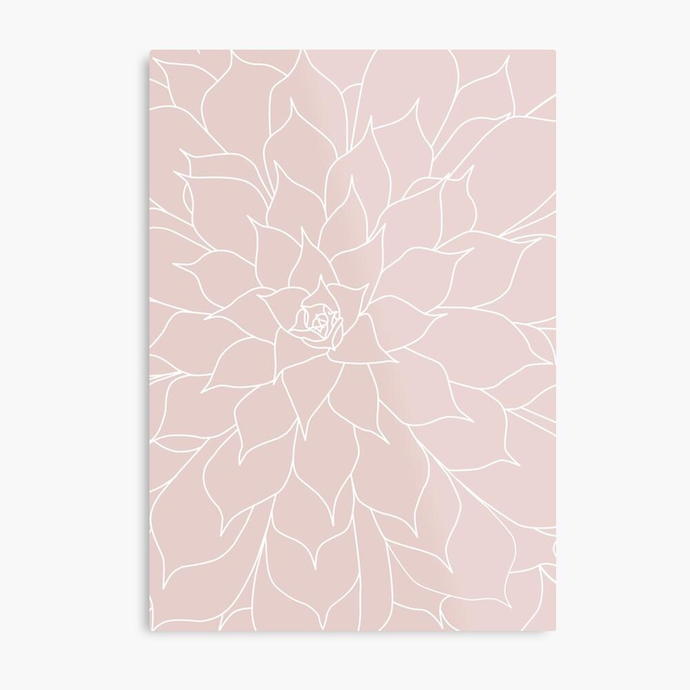 Blush Pink Succulent Metal Print