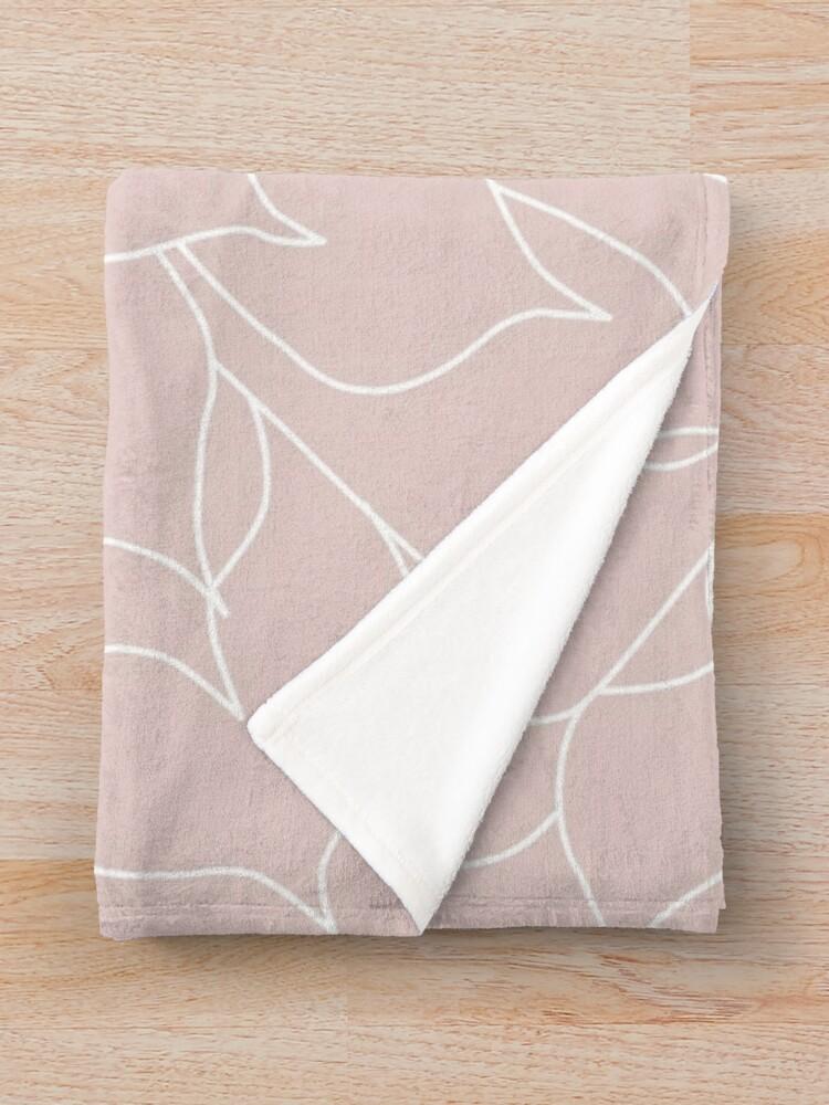 Alternate view of Blush Pink Succulent Throw Blanket