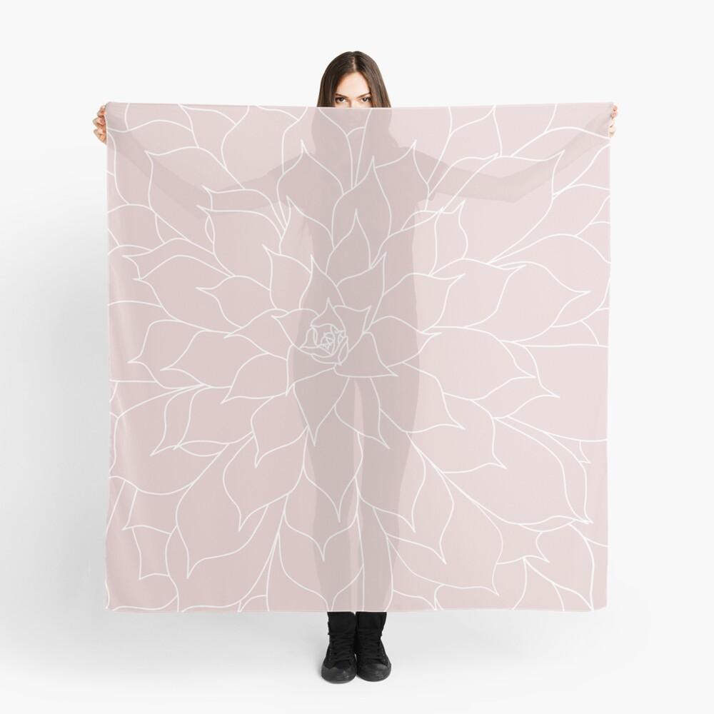 Blush Pink Succulent Scarf