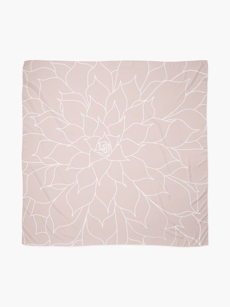 Alternate view of Blush Pink Succulent Scarf